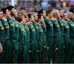 Sprinboks singing National Anthem in photo by Gerhard Steenkamp