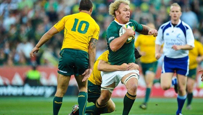 Schalk Burger on the run