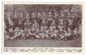 First ever Springbok team, the 1906 'Springboks' rugby team. (south african rugby union national team)