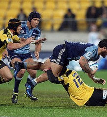 Hurricanes vs the Blues 2011 in Wellington.