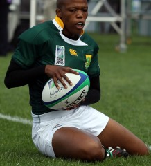 Zandile Nojoko of Woman Springboks