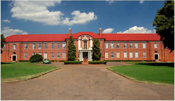 "The beautiful old buildings of the ""Hogere Oosteindskool"" that houses Affies since 1927"