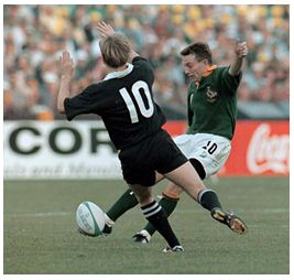 Joel Stransky with his most famous of drop goals!