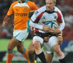 Former Cheetah Alywn Hollenbach in action for the Lions when they faced the Cheetahs during the Super Rugby earlier this yer. Photo by Getty Images.