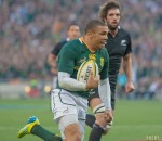 Springbok wing Bryan Habana is quickly becoming one of the greats of the game. Photo by Anton Geyser /Rugby15.
