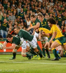 Francois Louw scores for the Boks (Bruce Taylor)