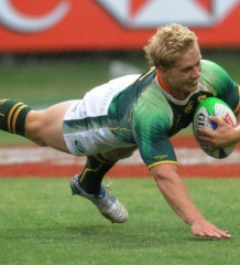 Blitzbokke captain Kyle Brown set to miss the rest of the season after breaking his ankle against England in Dubai. Photo by Getty Images.