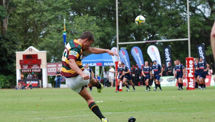 (Peter Murphy Photographer) Paarl Gim vs Grey College at Kearsney College Easter Festival 2012 - Handre Pollard (2)