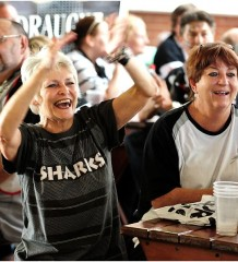 Sharks fans at 2010 final