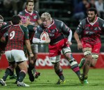 Steval Pumas eighth man, Renaldo Bothma on a run in photo by Hennie Homann