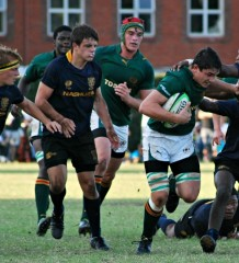 Glenwood High School vs Durban High School (DHS) 2013 - 8th man Jaco Coetzee - by Brett Webber