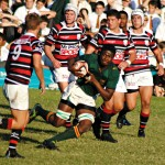 Glenwood High School vs Maritzburg College 25 May 2013 - Lock N Vidima in action - pic by Dries Erasmus
