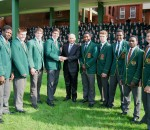 Photo: From left to right: Ntokozo Vidima, Koos Tredoux, Kerron van Vuuren, Jaco Coetzee, Mr T. Kershaw (Headmaster), Akhona Nela, Corné Vermaak, Wandi Mazibuko, Sphamandla Ngcobo, Morné Joubert
