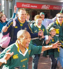 During the 2nd Test of the Castle Incoming Tour between the SPINGBOKS and ENGLAND on Saturday 16 June 2012 at Coca Cola Park, Johannesburg.