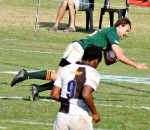 Morné Joubert (15) scoring a try of Glenwood - Glenwood High School vs Northwood School 8 July 2013 - by Brett Webber