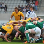 Pool B- Ireland v Australia Scrum. Photo- Michel Renac