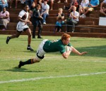 RUPERT KAY (8) SCORING A TRY of Glenwood - Glenwood High School vs Northwood School 8 July 2013 - by Brett Webber