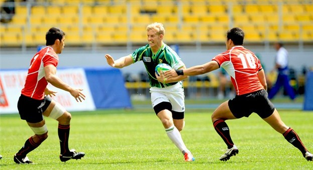 South Africa BlitzBokke Sevens Rugby - Kyle Brown in action against Japan at RWC Sevens 2013