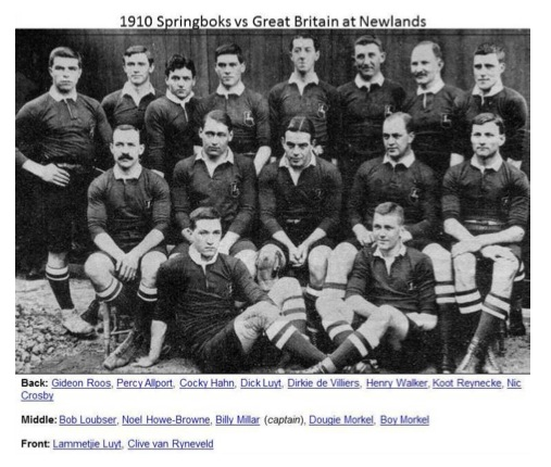 1910 Springboks vs Great Britain at Newlands Rugby Stadium