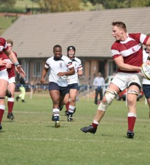 Kearsney College - 2013 SA Schools u18 - Daniel du Preez passing to Twin brother Jean-Luc du Preez