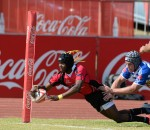 Odwa Nkunjane of Pumas dives over for his try during day 1 of the U18 Craven Week
