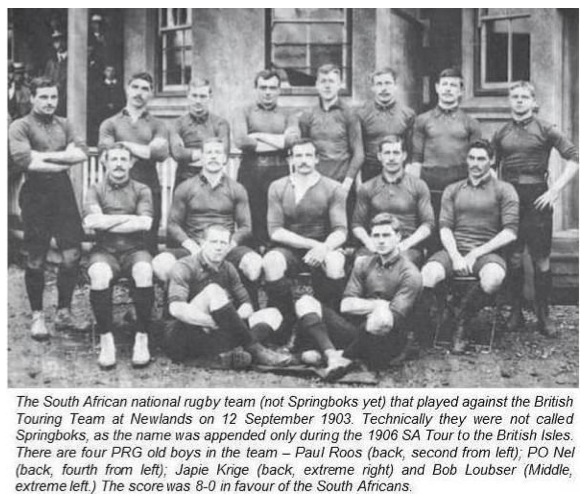 South Africa National Rugby Team (not Springboks yet) that played the British Touring Team at Newlands on 12 September 1903