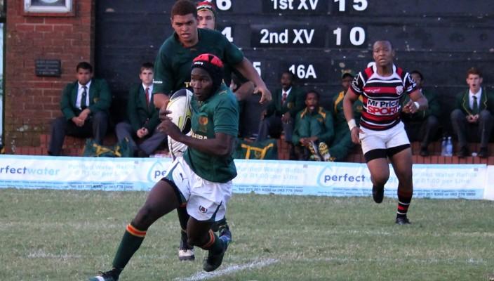 Glenwood High School vs Maritzburg College - 2013.08.03 - Glenwood fly half Sphamandla Ngcobo - Photographer Cyndi Gilbey