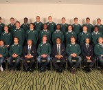 CAPE TOWN, SOUTH AFRICA - AUGUST 05: SA Schools A team photo during the 2015 SA Schools Capping Ceremony at Newlands Southern Sun on August 05, 2015 in Cape Town, South Africa. (Photo by Petri Oeschger/Gallo Images)