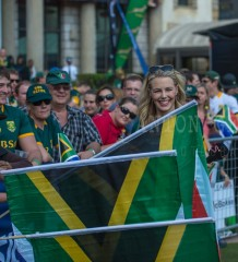 20150911, Monte Casino, Johannesburg: during The Springboks farewell as they leave for the 2015 Rugby World Cup with a public send-off in Johannesburg on Friday, September 11.
