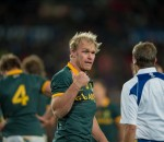 JOHANNESBURG, SOUTH AFRICA - JULY 25: Schalk Burger (C) of the Springboks in action during the The Rugby Championship match between the Springboks and the All Blacks played at Emirates Airline Park, Johannesburg, South Africa. (Photo by Anton Geyser)
