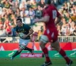 NELSPRUIT, SOUTH AFRICA - JUNE 21: Francois Louw of South Africa during the Castle Lager Incoming Tour Test between the Springboks and Wales played at Mbombela Stadium, Nelspruit, South Africa. (Photo by Anton Geyser)