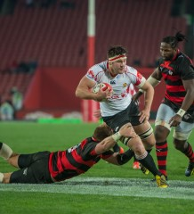 JOHANNESBURG, South Africa, 05 SEPTEMBER 2015 : Stephan de Wit from the Lions in action during the ABSA CURRIE CUP Rugby match between the GOLDEN LIONS and the EP Kings at Emirates Airline Park in Johannesburg, South Africa on 05 SEPTEMBER 2015. Photo by Anton Geyser