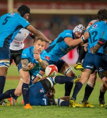 20150912, LOFTUS VERSVELD, PRETORIA: Francois Hougaard, of the Blue Bulls in action during ABSA CURRIE CUP match between BLUE BULLS vs GOLDEN LIONS, Saturday 12 September 2015. Loftus Versveld, Pretoria, Gauteng.   Photo by: Anton Geyser/ Rugby 15/ SASPA