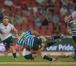 ELLIS PARK, SOUTH AFRICA - SEPTEMBER 13: Nizaam Carr of DHL Western Province in action during the ABSA Currie Cup Premier Division match between the Xerox Golden Lions and the DHL Western Province played at Ellis Park, Johannesburg, South Africa. (Photo by Anton Geyser)