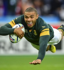 Bryan Habana of South Africa during the 2015 Rugby World Cup rugby match between South Africa and USA at the Olympic Stadium in London, England on October 7, 2015 ©Barry Aldworth/eXpect LIFE