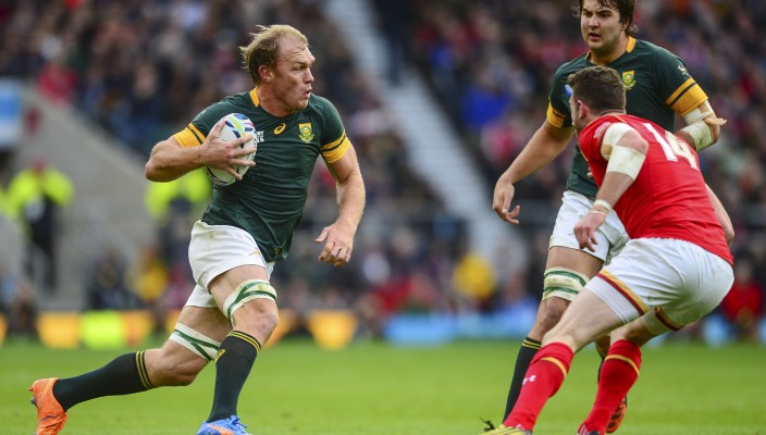 Schalk Burger of South Africa during the 2015 Rugby World Cup quarter final rugby match between South Africa and Wales at Twickenham Stadium, in London, England on October 17, 2015 ©Barry Aldworth/eXpect LIFE