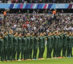 The Springbok team during the 2015 Rugby World Cup rugby match between South Africa and USA at the Olympic Stadium in London, England on October 7, 2015 ©Barry Aldworth/eXpect LIFE
