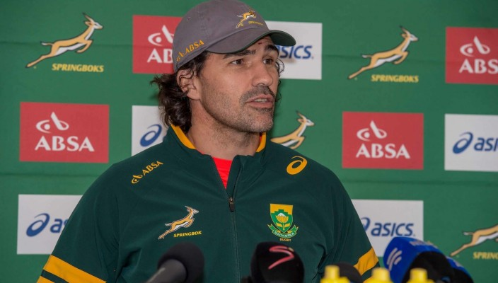 DURBAN, SOUTH AFRICA - JUNE13: Victor Matfield during Captain's Media Conference of  the Castle Lager Incoming Tour match between the Springboks and Wales played at King's Park, Durban, South Africa. (Photo by Anton Geyser)