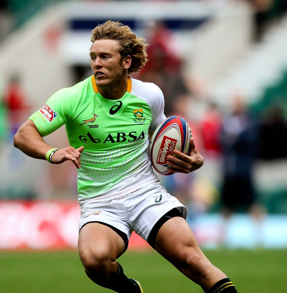 LONDON, ENGLAND - MAY 10: Werner Kok of South Africa in action during the Marriott London Sevens match between Scotland and South Africa at Twickenham Stadium on May 10, 2014 in London, England. (Photo by Ben Hoskins/Getty Images/Gallo Images)