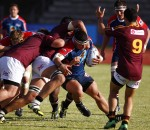 Gunther Roelofse of Madibaz during the 2016 FNB Varsity Cup Rugby presented by Steinhoff International, Monday 15 February 2016. FNB NMMU MADIBAS vs FNB MATIES, NMMU Sports ground, Port Elizabeth, Eastern Cape  Photo by: Michael Sheehan/SASPA