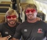 Faf de Klerk and Jaco Kriel with their SleepSpecs
