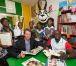 BLOEMFONTEIN, SOUTH AFRICA - NOVEMBER 18:  a general view during the Boks For Books library handover at Moipone Primary School on November 18, 2015 in Bloemfontein, South Africa. (Photo by Johan Pretorius/Gallo Images)