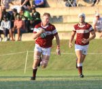 Rugby - Kearsney's Jared Meyer (with ball) in the game against Hilton