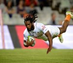 Sergeal Petersen from the Toyota Cheetahs  scoring a try during the Super Rugby match between the Toyota Cheetahs and the Sunwolves at the Free State Stadium on 15 April 2016. ©Gerhard Steenkamp/Backpage Media