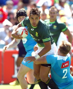 SYDNEY, AUSTRALIA - FEBRUARY 06:  General action during the day 1 match between South Africa and >>>>>> at the HSBC Sydney Sevens at Allianz Stadium on February 06, 2016 in Sydney, Australia. (Photo by Renee McKay)