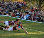 Rugby - Kearsney's James Sutherland goes over to score in the win against Maritzburg College