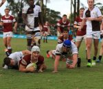 Rugby - Kearsney's Luke Croshaw scores in the win against Northwood