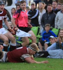 Rugby - Kearsney eighthman Dylan Richardson in the win against Hilton