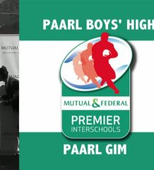 PREMIER INTERSCHOOL'S DERBY TEAM ANNOUNCEMENT: Paarl Boys' High v Paarl Gimnasium