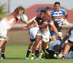 CAPE TOWN, SOUTH AFRICA - APRIL 29: Bangi Kobese of Border during the SuperSport Rugby Challenge match between DHL Western Province and Border at City Park on April 29, 2017 in Cape Town, South Africa. (Photo by Luke Walker/Gallo Images)